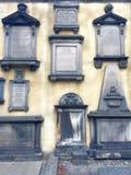 Historic tombstone wall in scotland Stock Photos