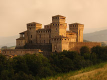 Historic Torrechiara Castle Stock Photography