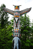 Historic totem pole Royalty Free Stock Photo