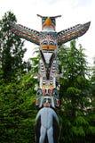 Historic totem pole royalty free stock photo