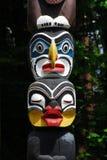 Historic totem pole stock photo