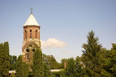 Historic tower Curtea de Arges Royalty Free Stock Images