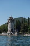 Historic tower in gargagno at lake garda, italy Royalty Free Stock Photography