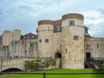 The historic Tower of London in UK Stock Photography