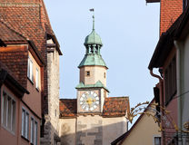 Historic tower in Rothenburg ob der Tauber Stock Photo