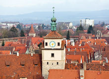 Historic tower in Rothenburg ob der Tauber Royalty Free Stock Images