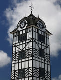 Historic tower of Stratford near volcano Taranaki, New Zealand Stock Images
