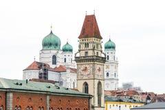 Historic Towers of Passau Royalty Free Stock Photos