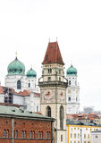 Historic Towers of Passau Royalty Free Stock Images