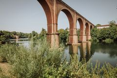 The historic town of Albi in France Stock Photos