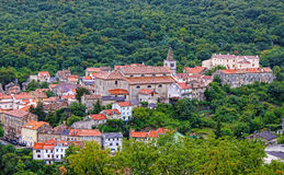 Historic town of Bakar in green forest Royalty Free Stock Photography