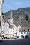 Historic town center Chur, Switzerland Royalty Free Stock Photo