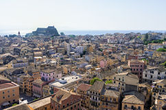 The historic town of Corfu island, Greece Stock Photography