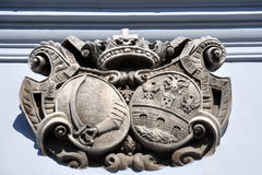 Historic town crest, city of Osijek, Croatia Stock Photos