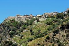 Fiumefreddo houses. The historic town of fiumefreddo del bruzio in italy stock photos