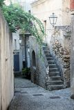 Fiumefreddo alley. The historic town of fiumefreddo del bruzio in south italy royalty free stock photography