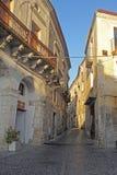 Fiumefreddo street. The historic town of fiumefreddo del bruzio in south italy royalty free stock image