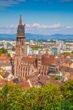 Historic town of Freiburg im Breisgau, Baden-Wurttemberg, German Stock Image