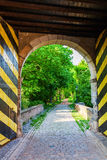 Historic town gate of Bedburg Alt-Kaster, Germany Stock Photos