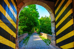Historic town gate of Bedburg Alt-Kaster, Germany Royalty Free Stock Image