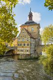 Historic town hall of Bamberg, Bavaria, Germany stock images