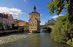 Historic town hall of Bamberg Stock Photos