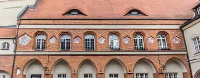 Historic town hall of Gardelegen. Detail of the historic town hall of Gardelegen in Germany Royalty Free Stock Images