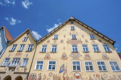 The historic town hall in Horb on the Neckar. The historic town hall with the facade painting Horber illustrated broadsheet. Black Forest, Baden-Wurttemberg Stock Photography