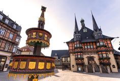 Historic town hall wernigerode germany. The historic town hall wernigerode germany royalty free stock photo