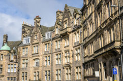 Historic Town Houses in Edinburgh City Centre Royalty Free Stock Photography
