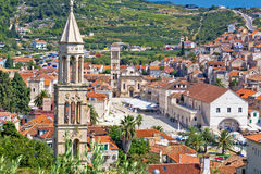 Historic town of Hvar stone architecture Stock Images