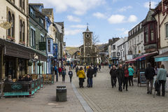Historic Town of Keswick in the UK. KESWICK, UK - APRIL 7TH 2017: The beautiful town centre in Keswick, located in the Lake District in Cumbria, UK, on 7th April Royalty Free Stock Image