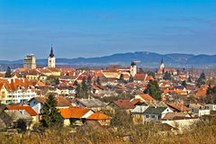 Historic Town of Krizevci panoramic cityscape Stock Image