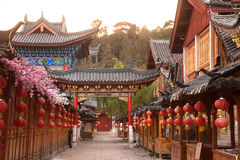 Historic town of Lijiang,UNESCO World heritage site. Stock Photos