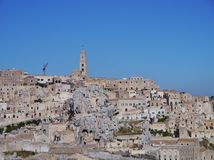 The historic town Matera Stock Image
