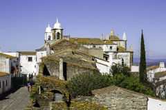 Historic town of Monsaraz, on the right margin of the Guadiana Stock Photography