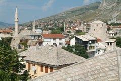 Historic town of Mostar. On Bosnia & Herzegovina Stock Photo