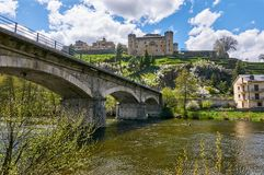 Free Historic Town Of Puebla De Sanabria From The Tera River Shore Royalty Free Stock Photography - 118087967
