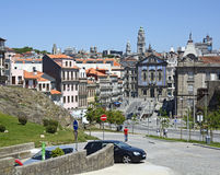 Historic town of Porto with Church Igreja dos Congregados Royalty Free Stock Images