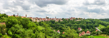 Historic town of Rothenburg ob der Tauber, Franconia, Bavaria, Germany Royalty Free Stock Photo