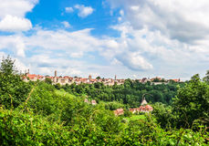 Historic town of Rothenburg ob der Tauber, Franconia, Bavaria, Germany Royalty Free Stock Image
