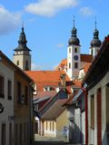 Historic town of Telc Stock Photography