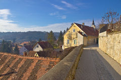 Historic town of Varazdinske Toplice walkway Royalty Free Stock Images