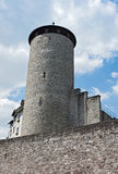 Historic town wall with defensive tower in Weilburg, Hesse, Germany Stock Photography