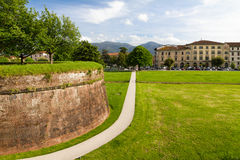 Historic town wall in Lucca, Tuscany Royalty Free Stock Photos