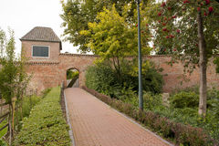 Historic town wall with watchtower and gate Royalty Free Stock Image