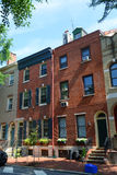 Historic townhouse in Philadelphia, Pennsylvania. Historic Townhouse on Pine Street in old town Philadelphia, Pennsylvania, USA Royalty Free Stock Image