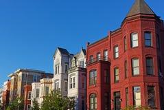 Historic townhouses in Washington DC, USA. Stock Photo