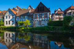 Historic townscape with old half-timbered houses in Schiltach Royalty Free Stock Image