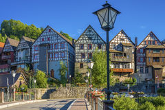 The historic townscape of Schiltach Royalty Free Stock Photo